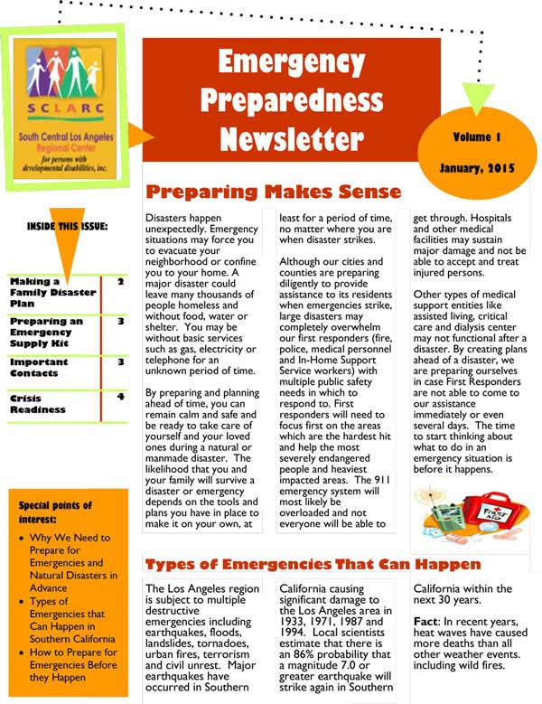3Emergency Preparedness Newsletter